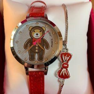 ❤️Betsey Johnson❤️ Teddy Bear Watch set